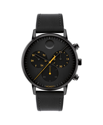 MOVADO Movado Face3640039 – 43mm Movado Face Chrono on Strap - Front view