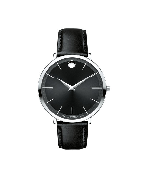 Movado | Movado Ultra Slim Women's Mid-size Stainless steel watch with Black dial