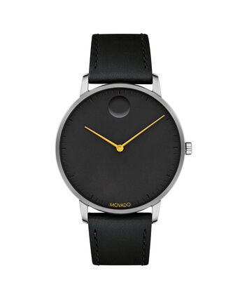 MOVADO Movado Face3640033 – 41mm Movado Face on strap - Front view