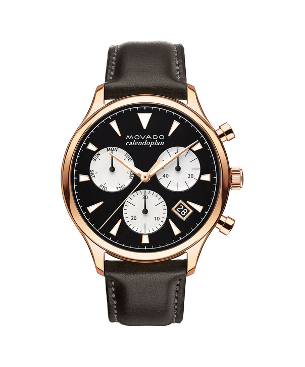 MOVADO Movado Heritage Series3650021 – Men's 43 mm strap chronograph - Front view
