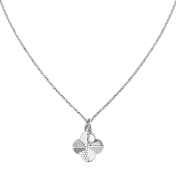 MOVADO Movado Flora Necklace1840004 – Silver  quatrefoil Necklace - Front view