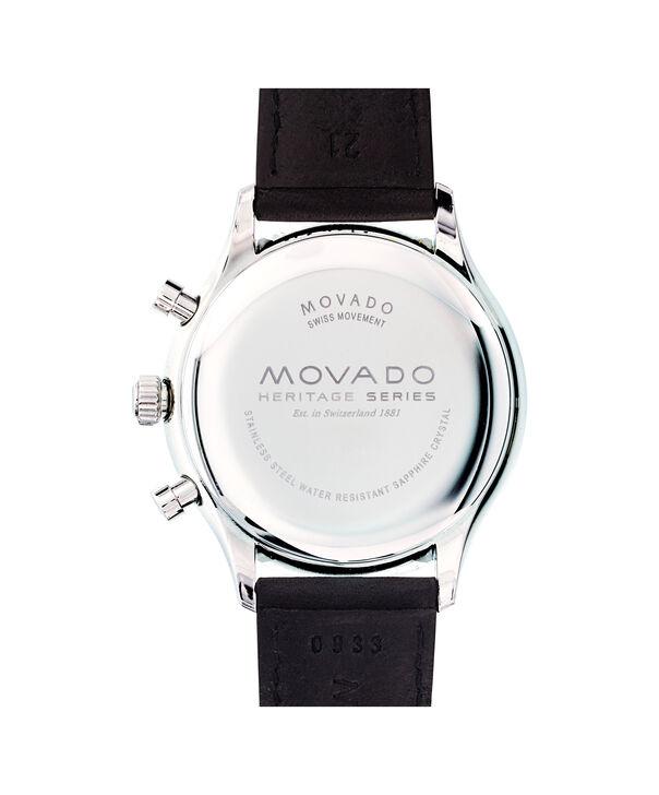 MOVADO Movado Heritage Series3650005 – Chronographe de 43 mm pour hommes, avec bracelet souple - Back view