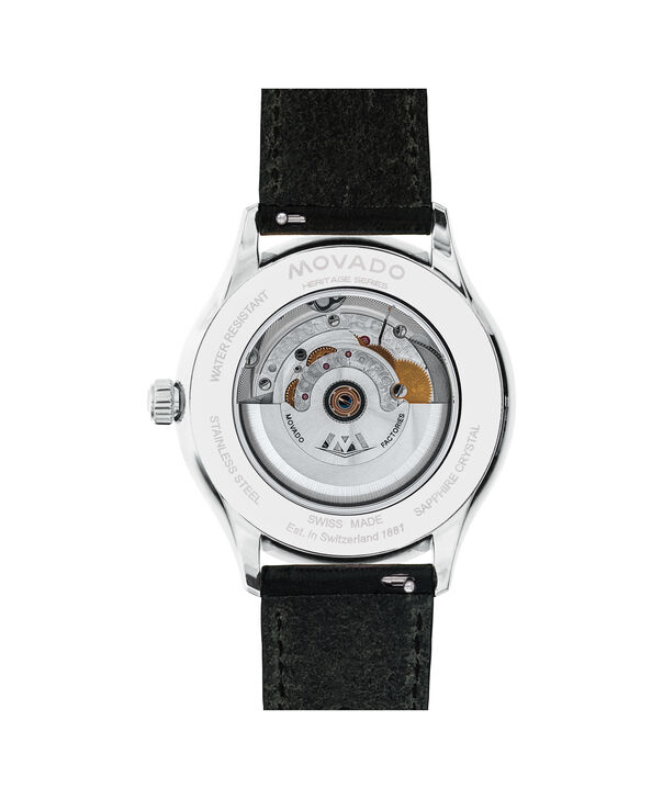 MOVADO Movado Heritage Series3650054 – Men's 40 mm strap watch - Back view