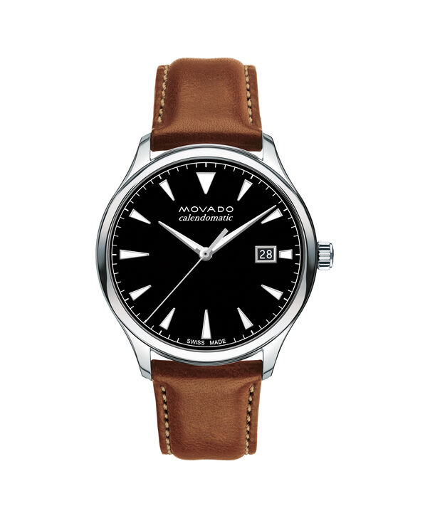 MOVADO Movado Heritage Series3650055 – Men's 40 mm strap watch - Front view