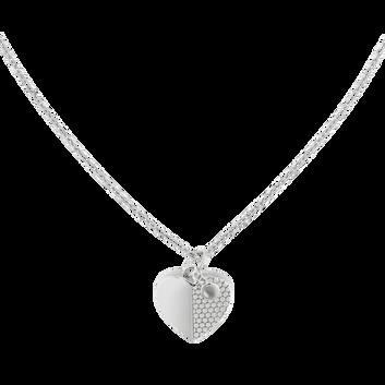 MOVADO Movado Heart Necklace1840027 – Movado Heart Silver Necklace - Front view