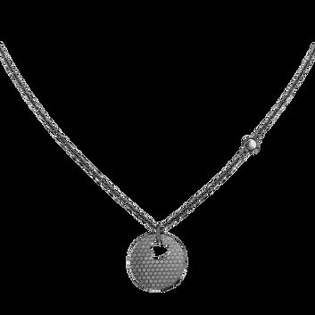 MOVADO Movado Heart on Chain Necklace1840009 – Collier à cœur noir - Front view