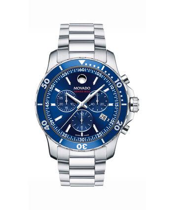 MOVADO Series 8002600141 – Men's 42 mm bracelet chronograph - Front view