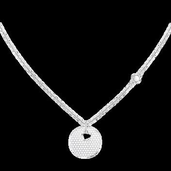 MOVADO Movado Heart on Chain Necklace1840007 – Collier à cœur argent - Front view