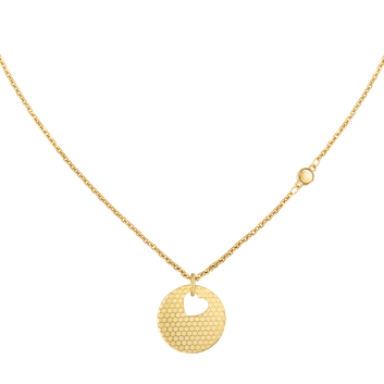 MOVADO Movado Heart on Chain Necklace1840008 – Gold Heart Necklace - Front view