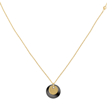 MOVADO Movado Disc Necklace1840016 – Movado Double Disc Chain Necklace - Front view