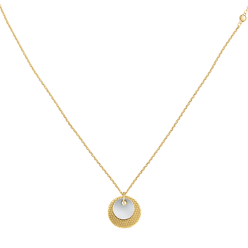 MOVADO Movado Disc Necklace1840017 – Yellow Gold Disc Chain Necklace - Front view