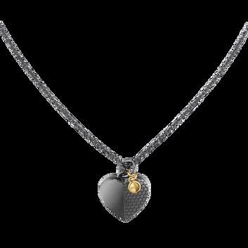 MOVADO Movado Heart Necklace1840029 – Collier noir Movado Heart - Front view