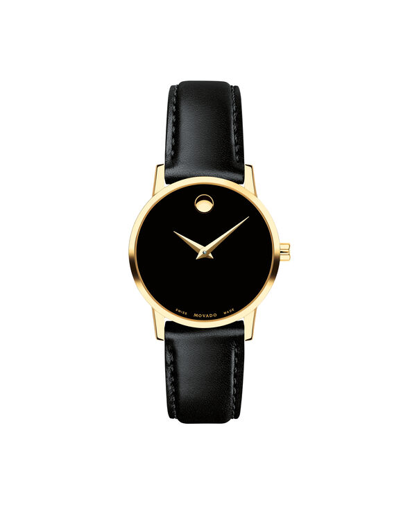 29d87174ef4649 MOVADO Museum Classic0607275 – Women's 28 mm strap watch - Front ...