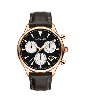 MOVADO Movado Heritage Series3650021 – Men's 43 mm strap chronograph - Front view